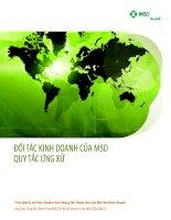 Đối tác kinh doanh của MSD quy tắc ứng xử