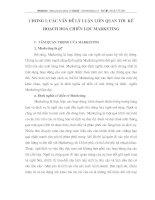 Các vấn đề lý luận liên quan tới kế hoạch hóa chiến lược Marketing