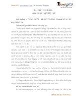 BÀI TẬP TÌNH HUỐNG MÔN: QUẢN TRỊ NHÂN LỰC