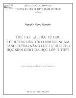 luận văn thạc sỹ giáo dục học của Nguyễn Ngọc Nguyên