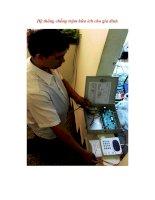 Hệ thống chống trộm hữu ích cho gia đình