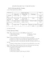 Đề kiểm tra môn vật lý học kì II lớp 6