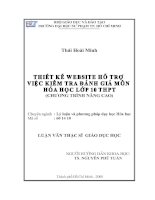 luận văn thạc sỹ giáo dục học Thái Hoài Minh