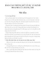 BÁO CÁO THỐNG KÊ VỀ DỰ ÁN KINH DOANH CỬA HÀNG 24H