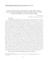 ĐÁNH GIÁ MÔI TRƯỜNG CẠNH TRANH CỦA MIỀN TRUNG THÔNG QUA SỰ SO SÁNH VÀ KIỂM ĐỊNH THỐNG KÊ CHỈ SỐ NĂNG LỰC CẠNH TRANH CẤP TỈNH PCI