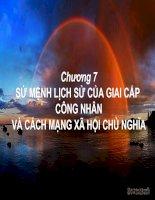 SỨ MỆNH LỊCH SỬ CỦA GIAI CẤP CÔNG NHÂN VÀ CÁCH MẠNG XÃ HỘI CHỦ NGHĨA