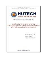 Nghiên cứu và đề xuất giải pháp sản xuất sạch cho ngang công nghiệp giấy trên địa bàn tỉnh Bình Dương