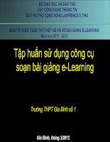 Tập huấn sử dụng công cụ soạn bài giảng E-learning