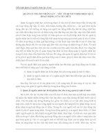 QUẢN LÝ NGUỒN NHÂN LỰC – YẾU TỐ QUYẾT ĐỊNH HIỆU QUẢ HOẠT ĐỘNG CỦA TỔ CHỨC