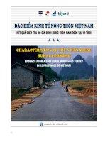 Đặc điểm kinh tế nông thôn Việt Nam