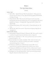 XÂY DỰNG PHƯƠNG PHÁP NHẬN DIỆN VÀ PHÂN TÍCH TÍNH ĐA DẠNG DI TRUYỀN CỦA 21 DÒNG CACAO (THEOBROMA CACAO L.) BẰNG KỸ THUẬT MICROSATELLITE (Tài liệu tham khảo)