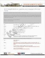 English for Tourism and Hospitality bài 14
