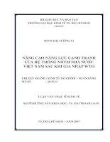 511 Nâng cao năng lực cạnh tranh của hệ thống NHTM Nhà nước Việt Nam sau khi gia nhập WTO