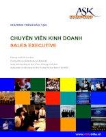 chương trình đào tạo chuyên viên kinh doanh