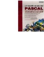 Lý thuyết và bài tập Pascal