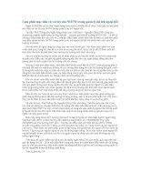 Lạm phát mục tiêu và vai trò của NHTW trong quản lý dự trữ ngoại hối