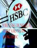 Ứng dụng của thương mại điện tử vào ngân hàng HSBC