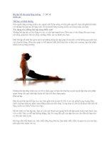 Bài tập thể dục giúp tăng trưởng chiều cao