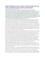 MỘT SỐ BÌNH LUẬN TỪ THỰC TIỄN GIẢI QUYẾT VỤ VIỆC VỀ HÀNH VI HẠN CHẾ CẠNH TRANH