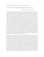 ĐỔI MỚI PHƯƠNG PHÁP DẠY - HỌC Ở BẬC TRUNG HỌC VÀ   TĂNG CƯỜNG KỸ NĂNG NGHIỆP VỤ ĐỐI VỚI SINH VIÊN SƯ PHẠM