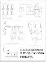Sơ đồ nguyên lý bộ nguồn ổn áp 1 chiều cung cấp cho tải chiếu sáng