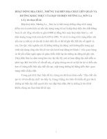 HOẠT ĐỘNG ĐỊA CHẤT , NHỮNG TAI BIẾN ĐỊA CHẤT LIÊN QUAN VÀ HƯỚNG KHẮC PHỤC CỦA ĐẬP TH ĐIỆN MƯỜNG LA_SƠN LA