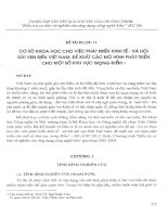cơ sở khoa học cho việc phát triển kinh tế xã hội dải ven biển Việt nam