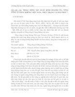 Hoạt động sản xuất kinh doanh của tổng công ty hàng không Việt Nam - Thực trạng và Giải pháp