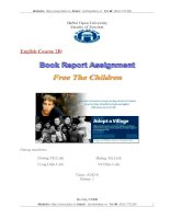 BOOK REPORT ASSIGNMENT FREE THE CHILDREN