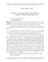 TỔ CHỨC CÁC HOẠT ĐỘNG ĐỂ GIÁO DỤC TRUYỀN THỐNG CHO ĐỘI VIÊN.