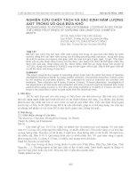 Nghiên cứu chiết tách và xác định hàm lượng Axit trong vỏ quả Bứa khô