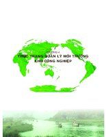 thực trạng quản lý môi trường khu công nghiệp