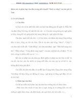 """Khảo sát và phân loại câu đơn trong tiểu thuyết """"Thời xa vắng"""" của tác giả Lê Lựu"""