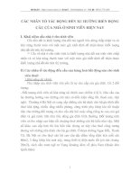 CÁC NHÂN TỐ TÁC ĐỘNG ĐẾN XU HƯỚNG BIẾN ĐỘNG CẦU CỦA NHÀ Ở SINH VIÊN HIỆN NAY