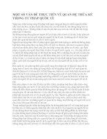 MỘT SỐ VẤN ĐỀ THỰC TIỄN VỀ QUAN HỆ THỪA KẾ TRONG TƯ PHÁP QUỐC TẾ