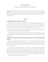 Bài kiểm tra môn Quản lý nhà nước về kinh tế