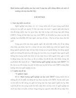 Định hướng nghề nghiệp của học sinh Trung học phổ thông (Khảo sát một số trường trên địa bàn Hà Nội