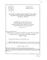346 Tổng kết lý thuyết, cơ sở lý luận về quá trình chuyển đổi cơ cấu kinh tế nông nghiệp, nông thôn