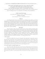XÂY DỰNG MÔ HÌNH ĐÁNH GIÁ MỨC ĐỘ HÀI LÒNG CỦA SINH VIÊN VỚI CHẤT LƯỢNG ĐÀO TẠO TẠI TRƯỜNG ĐẠI HỌC KINH TẾ, ĐẠI HỌC ĐÀ NẴNG