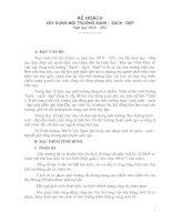 KẾ HOẠCH XÂY DỰNG MÔI TRƯỜNG XANH – SẠCH - ĐẸP