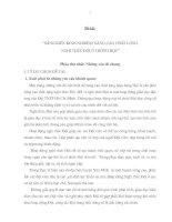 SÁNG KIẾN KINH NGHIỆM NÂNG CAO CHẤT LƯỢNG  NGHI THỨC ĐỘI Ở TRƯỜNG HỌC
