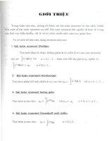 giới thiệu luận văn về chỉnh hóa một số bài toán moment