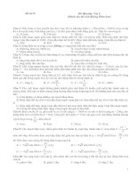 Đề số 15 Đề thi môn: Vật lí (Dành cho thí sinh Không Phân ban)