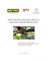 phân tích ngành hàng rau an toàn tại thành phố Hà Nội