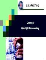 Chương 3: Quản trị thức marketing điện tử