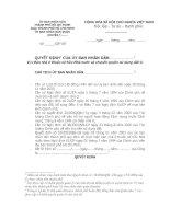 Quyết định bán nhà ở thuộc sở hữu Nhà nước và chuyển quyền sử dụng đất ở của Ủy ban nhân dân