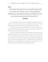 VẬN DỤNG LÍ LUẬN GIÁ TRỊ SỨC LAO ĐỘNG ĐỂ CHỨNG MINH CĂN CỨ KHOA HỌC VIỆC ĐẨY MẠNH CÔNG NGHIỆP HÓA HIỆN ĐẠI HÓA NÔNG NGHIỆP NÔNG THÔN CỬ ĐẢNG