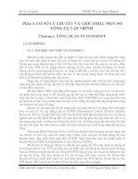 CƠ SỞ LÝ THUYẾT VÀ GIỚI THIỆU MỘT SỐ CÔNG CỤ LẬP TRÌNH