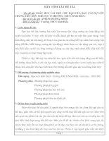 PHÁT HUY VAI TRÒ CHỦ ĐẠO CỦA BAN CÁN SỰ LỚP TRONG TIẾT HỌC THỂ DỤC Ở TRƯỜNG THCS NINH ĐIỀN