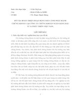 HƯỚNG HOÀN THIỆN KẾ HOẠCH PHÁT TRIỂN THỊ TRƯỜNG SẢN PHẨM TÍN DỤNG TIÊU DÙNG